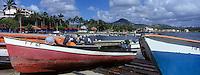 France/DOM/Martinique/ Le Vauclin: leee port de pêche, les barques et gommiers des pêcheurs