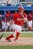 June 21st 2008:  Outfielder Shane Peterson (12) of the Batavia Muckdogs, Class-A affiliate of the St. Louis Cardinals, during a game at Dwyer Stadium in Batavia, NY.  Photo by:  Mike Janes/Four Seam Images