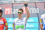 Irish Champion Sam Bennett (IRL) Deceuninck-Quick Step at sign on before the start of the 101st edition of Milan-Turin 2020 running 198km from Mesero to Stupinigi (Nichelino), Italy. 5th August 2020.<br /> Picture: LaPresse/Gian Mattia D'Alberto | Cyclefile<br /> <br /> All photos usage must carry mandatory copyright credit (© Cyclefile | LaPresse/Gian Mattia D'Alberto)