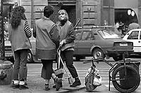 - Czechoslovakia, Prague, young people involved in the public cleaning (Spring 1988)<br /> <br /> - Cecoslovacchia, Praga, giovani addette alla pulizia pubblica (Primavera 1988)
