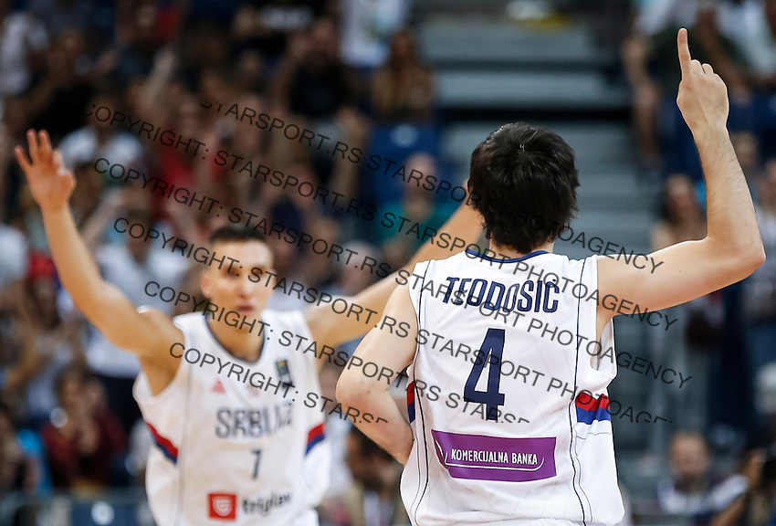 Kosarka FIBA Olympic Basketball Qualifying Tournament-FINAL<br /> Serbia v Puerto Rico<br /> Milos Teodosic (R) and Bogdan Bogdanovic<br /> Beograd, 09.07.2016.<br /> foto: Srdjan Stevanovic/Starsportphoto©