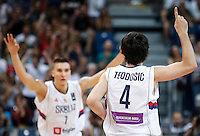 Kosarka FIBA Olympic Basketball Qualifying Tournament-FINAL<br /> Serbia v Puerto Rico<br /> Milos Teodosic (R) and Bogdan Bogdanovic<br /> Beograd, 09.07.2016.<br /> foto: Srdjan Stevanovic/Starsportphoto©