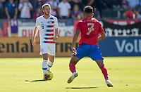 CARSON, CA - FEBRUARY 1: Jackson Yueill #6 of the United States turns and moves with the ball during a game between Costa Rica and USMNT at Dignity Health Sports Park on February 1, 2020 in Carson, California.