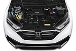 Car Stock 2020 Honda CR-V Touring 5 Door SUV Engine  high angle detail view