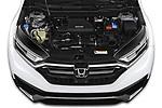 Car Stock 2020 Honda CR-V Touring 5 Door SUV Engine  high angle detail view