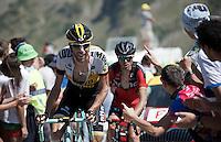 Laurens ten Dam (NLD/LottoNL-Jumbo) up the Col du Tourmalet (HC/2115m/17km/7.3%)<br /> <br /> st11: Pau - Cauterets (188km)<br /> 2015 Tour de France