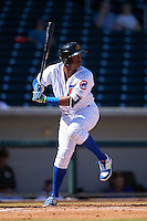 Mesa Solar Sox Eloy Jimenez (27), of the Chicago Cubs organization, during a game against the Surprise Saguaros on October 14, 2016 at Sloan Park in Mesa, Arizona.  Mesa defeated Surprise 10-4.  (Mike Janes/Four Seam Images)