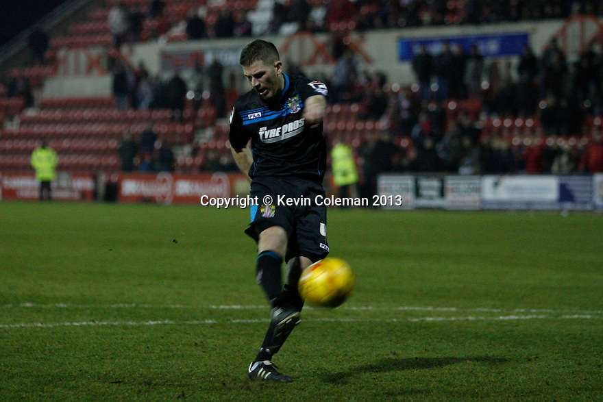Ben Chorley of Stevenage shoots his penalty over the bar<br />  - Swindon Town v Stevenage - Johnstone's Paint Trophy - Southern Section Semi-final  - County Ground, Swindon - 10th December, 2013<br />  © Kevin Coleman 2013