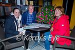Enjoying the evening in Brogue Inn on Friday, l to r: Ciara, Padraig and Geraldine Walsh.