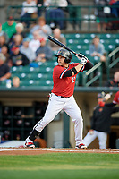 Rochester Red Wings left fielder J.B. Shuck (21) at bat during the first game of a doubleheader against the Scranton/Wilkes-Barre RailRiders on August 23, 2017 at Frontier Field in Rochester, New York.  Rochester defeated Scranton 5-4 in a game that was originally started on August 22nd but postponed due to inclement weather.  (Mike Janes/Four Seam Images)