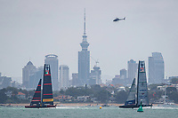 Luna Rossa Prada Pirelli VS American Magic during race 5 of the Round Robin competition of the PRADA America's Cup World Series in Auckland, New Zealand on Friday 18th December 2020. Copyright Photo: Libby Law Photography