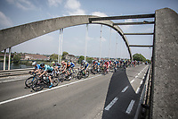 Stijn Devolder (BEL/Willems Veranda's-Crelan) leads the peloton over the bridge. <br /> <br /> GP Marcel Kint 2018 <br /> Kortrijk > Zwevegem 174.8km (BELGIUM)