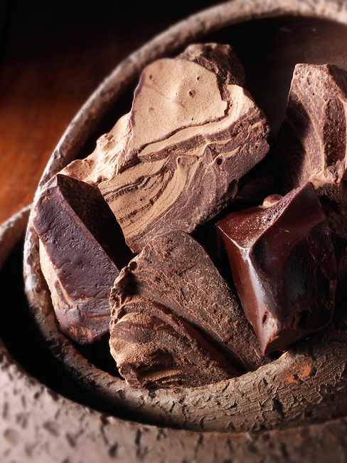 Cacao liquor pieces stock photos