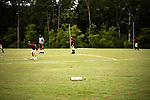 July 25, 2008. Durham, NC.. Started over 30 years ago, Beep Ball is baseball for the visually impaired. Played with an oversized softball that beeps, and bases that also make sound, the game has allowed people with varying degrees of visual impairment to participate in a team sport. All players are required to wear blacked out masks, to equalize the impairment and if the fielding team gets control of the ball before the hitting player reaches the base, an out is recorded. If the hitting player reaches the base first, a run is scored. There are only 2 bases, one to the left and one to the right, and the hitting player hears a tone after the hit is made, to add to the difficulty, telling them which base to run to..  The bases are powered by a car battery and stop making noise when the runner hits the base. It is up to a sighted umpire to decide if the runner got to the base before the outfielders gained control of the ball.