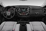 Stock photo of straight dashboard view of 2018 GMC Sierra-2500HD 2WD-Regular-Cab-Long-Box 2 Door Pick-up Dashboard