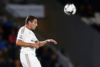 Angel Rangel of Swansea City during the Capital One Cup match between Hull City and Swansea City played at the Kingston Communications Stadium, Hull