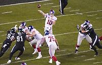 Pass von quarterback Eli Manning (10) of the New York Giants - 09.12.2019: Philadelphia Eagles vs. New York Giants, Monday Night Football, Lincoln Financial Field