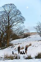 Shooting in snow, Lancashire.