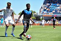 SAN JOSE, CA - JUNE 8: Siad Haji #19 during a game between FC Dallas and San Jose Earthquakes at Avaya Stadium on June 8, 2019 in San Jose, California.