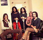 Fleetwood Mac 1969 Mick Fleetwood, Peter Green, Jeremy Spencer, Danny Kirwan and John McVie<br /> © Chris Walter