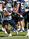 Dallas Cowboys running back Phillip Tanner (34) in action at the Dallas Cowboys 2012 Training Camp which was held at the Marriott Resident Inn football fields in Oxnard, CA.