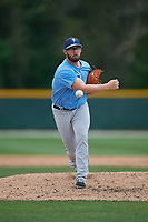 Tampa Bay Rays pitcher B.J. Myers (10) during a Minor League Spring Training game against the Baltimore Orioles on March 16, 2019 at the Buck O'Neil Baseball Complex in Sarasota, Florida.  (Mike Janes/Four Seam Images)