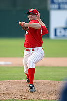 June 21st 2008:  Pitcher Josh Hester (14) of the Batavia Muckdogs, Class-A affiliate of the St. Louis Cardinals, during a game at Dwyer Stadium in Batavia, NY.  Photo by:  Mike Janes/Four Seam Images