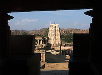 Ancient Hindu religious temple at Hassan, India