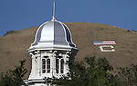 C-Hill visible above the Capitol dome in Carson City, Nev., on Tuesday, Aug. 3, 2010. <br /> Photo by Cathleen Allison