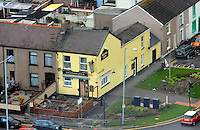 Pictured: Swansea Jack pub public house oystermouth road general view of Swansea as seen from the Penthouse restaurant<br />