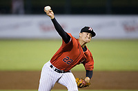 Kannapolis Intimidators relief pitcher Tyler Johnson (22) delivers a pitch to the plate against the Greenville Drive in Game Two of the 2017 South Atlantic League Championship at Kannapolis Intimidators Stadium on September 13, 2017 in Kannapolis, North Carolina.  The Drive defeated the Intimidators 2-0.  (Brian Westerholt/Four Seam Images)