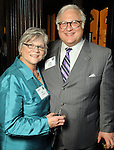 Mitzi and Greg Ortale at the OTC Board Dinner hosted by the Greater Houston Convention and Visitors Bureau at the Julia Ideson Library Saturday April 28,2012. (Dave Rossman Photo)