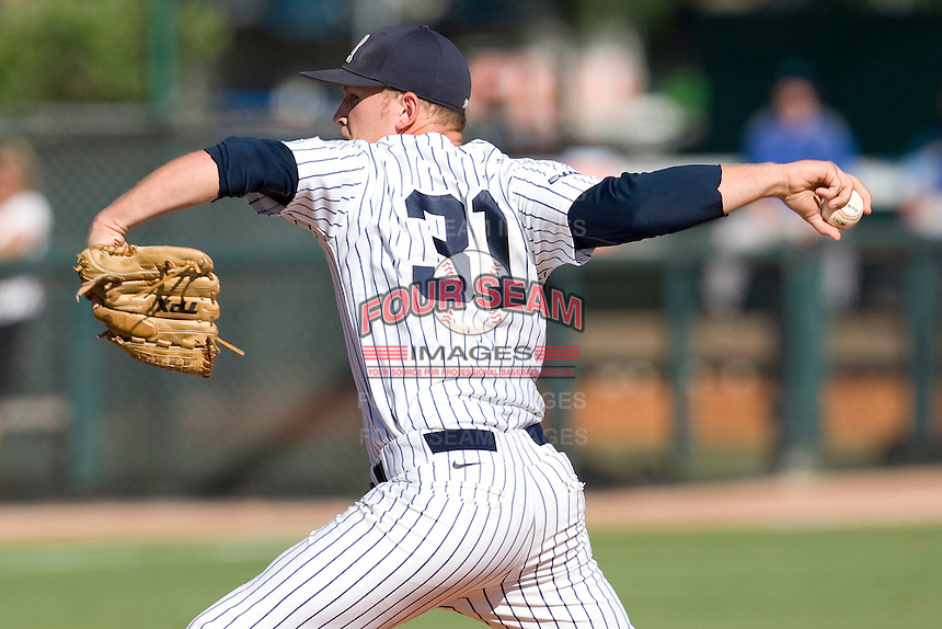 Rice Owls pitcher Tyler Duffy #31 delivers against the Memphis TIgers in NCAA Conference USA baseball on May 14, 2011 at Reckling Park in Houston, Texas. (Photo by Andrew Woolley / Four Seam Images)