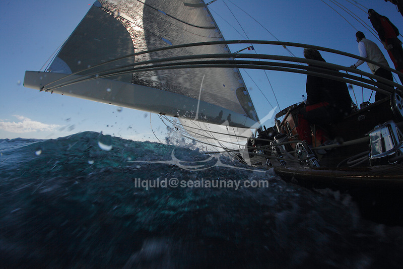 """Onboard Velsheda during """"Les Voiles de Saint Tropez"""", France."""