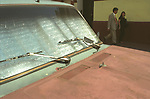 Hot light car, rust old Buenos Aires Argentina South America 2000s 2002