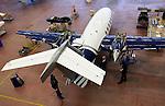12 gennaio 2012, ore 13,07,Genova Sestri, Piaggio Aero<br /> collaudatori del Service Center e manutenzione,  del velivolo P. 180 Avanti II