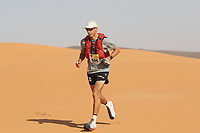 5th October 2021; Kourci Dial Zaid to Jebel El Mraier ; Pierre MESLET (fra) Marathon des Sables, stage 3 of  a six-day, 251 km ultramarathon, which is approximately the distance of six regular marathons. The longest single stage is 91 km long. This multiday race is held every year in southern Morocco, in the Sahara Desert.