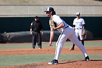 CARY, NC - FEBRUARY 23: Jared Freilich #49 of Penn State University stands on the mound during a game between Wagner and Penn State at Coleman Field at USA Baseball National Training Complex on February 23, 2020 in Cary, North Carolina.