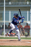Minnesota Twins Travis Blankenhorn (17) during a minor league Spring Training game against the Baltimore Orioles on March 17, 2017 at the Buck O'Neil Baseball Complex in Sarasota, Florida.  (Mike Janes/Four Seam Images)