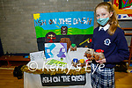 First year student Deirdre Moynihan from Presentation Castleisland with her project Ash on the Dash, winner of their annual school enterprise competition.