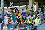 Spectators watch on after the Munster GAA Football Senior Championship Final match between Kerry and Cork at Fitzgerald Stadium in Killarney on Sunday.