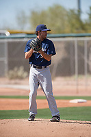 Milwaukee Brewers relief pitcher Matthew Hardy (95) during a Minor League Spring Training game against the Colorado Rockies at Salt River Fields at Talking Stick on March 17, 2018 in Scottsdale, Arizona. (Zachary Lucy/Four Seam Images)