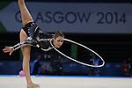 Glasgow 2014 Commonwealth Games<br /> <br /> Francesca Jones (Wales) competing in the women's Individual Rhythmic Gymnastics Final.<br /> <br /> 25.07.14<br /> ©Steve Pope-SPORTINGWALES
