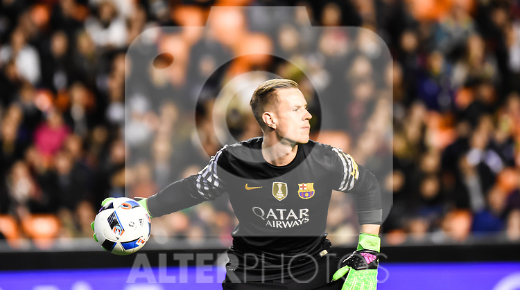 FC Barcelona's Marc-Andre Ter Stegen  during Spanish King's Cup match. February 10, 2016. (ALTERPHOTOS/Javier Comos)