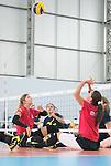 Jennifer Oakes, Rio 2016 - Sitting Volleyball // Volleyball Assis.<br /> Canada's Womens Sitting Volleyball team plays a practice match vs Team USA // L'équipe canadienne féminine de volleyball assis joue un match d'entraînement contre l'équipe américaine. 06/09/2016.