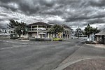 Day 4 image taken on corner Dauncy st Kingscote Kangaroo Island image is of Fine Art Gallery and ozone Apartments i have pulled a lot of color at of this image to give it a artistic feel to the  image