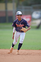 Bradley Frye (9) during the WWBA World Championship at the Roger Dean Complex on October 13, 2019 in Jupiter, Florida.  Bradley Frye attends Lassiter High School in Marietta, GA and is Uncommitted.  (Mike Janes/Four Seam Images)