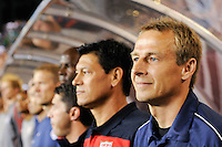 United States head coach Jurgen Klinsmann (R) and assistant coach Martin Vasquez prior to an international friendly between the men's national teams of the United States (USA) and Mexico (MEX) at Lincoln Financial Field in Philadelphia, PA, on August 10, 2011.