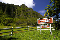 Kualoa Ranch. Located along the eastern coastline of Oahu just past the town of Kaneohe.The ranch offers visitors a wide variety of outdoor adventures from horseback riding to jet skiing and more.
