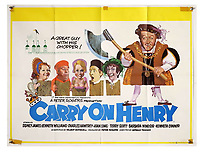 BNPS.co.uk (01202 558833)<br /> Pic: Ewbank's/BNPS<br /> <br /> Pictured: Carry On Henry (1971) poster sold for £120. <br /> <br /> A saucy collection of more than 20 vintage film posters from the 'Carry On' films have sold for almost £10,000.<br /> <br /> The 30ins by 40ins British quad posters were used on cinema billboards to advertise the comedy movies from the 1960s and '70s.<br /> <br /> The colourful posters depict comedy actors like Sid James, Kenneth Williams and Barbara Windsor who regularly starred in the comedy caper franchise.